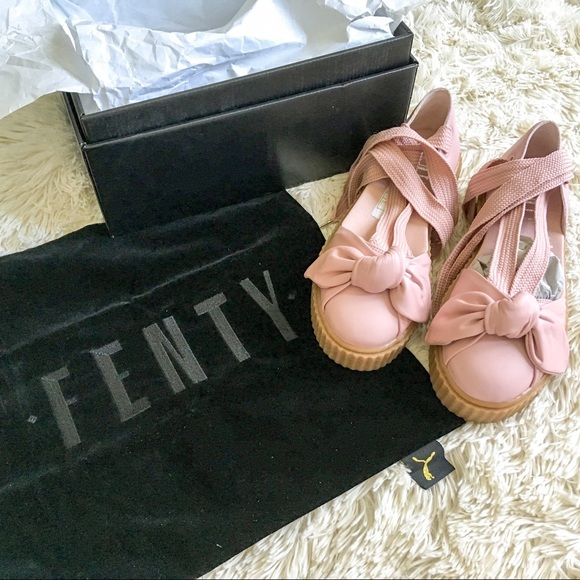 fe2c8288a82 NEW W  BAG   BOX Fenty x Puma bow creeper sandals